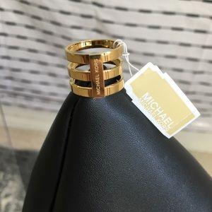 Michael Kors statement gold ring